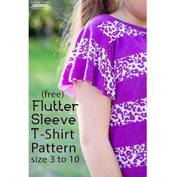Free pattern: Girls' flutter sleeve