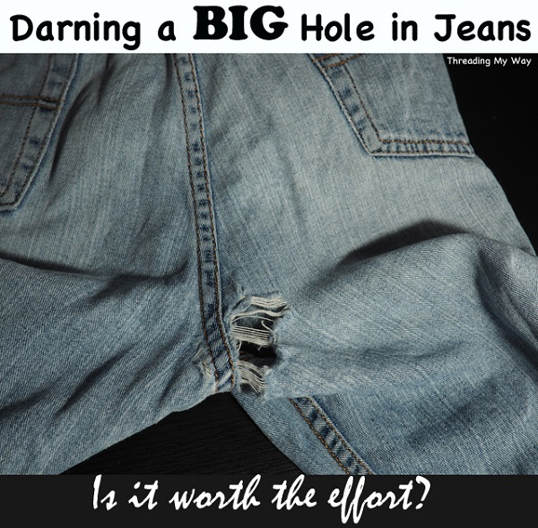Tutorial: How to mend large holes in jeans