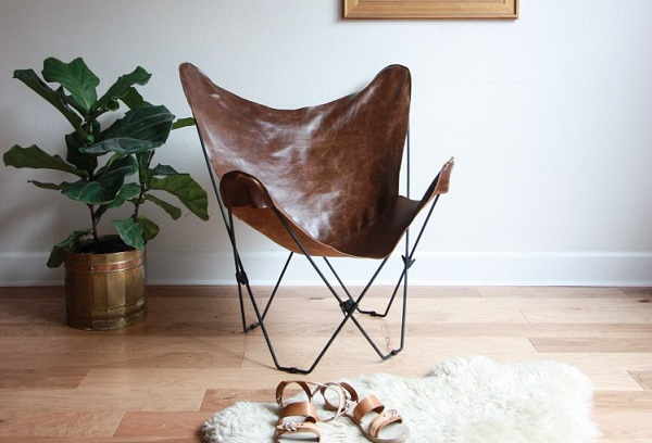 Free Pattern Leather Butterfly Chair Cover Sewing