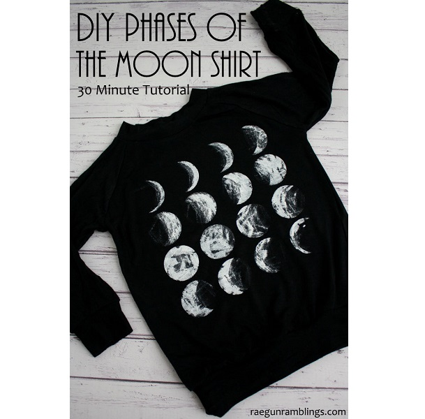 Tutorial: Phases of the moon t-shirt