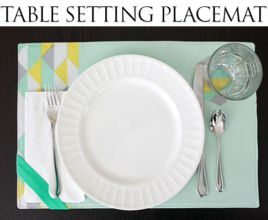 Tutorial: Table setting placemat