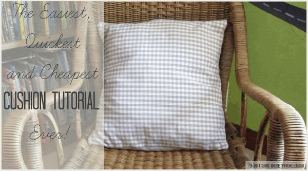 Tutorial: Super easy tea towel pillow covers