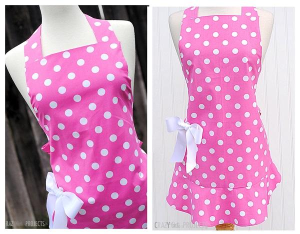 Tutorial: Cute apron with a flounce hem