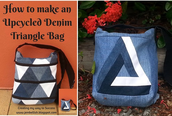 Tutorial: Recycled jeans patchwork bag