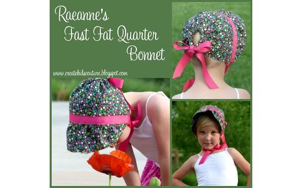 Free pattern: Fast fat quarter bonnet