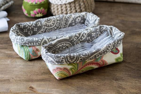 Tutorial: Fabric utensil basket
