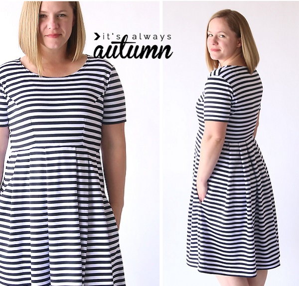 Tutorial Perfect Fit Flare Dress No Pattern Required Sewing