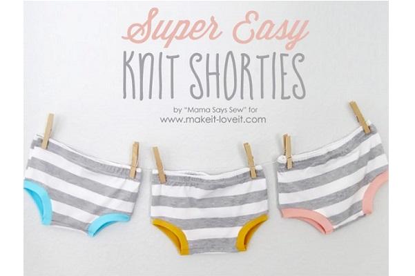 Tutorial: Super Easy Knit Shorties
