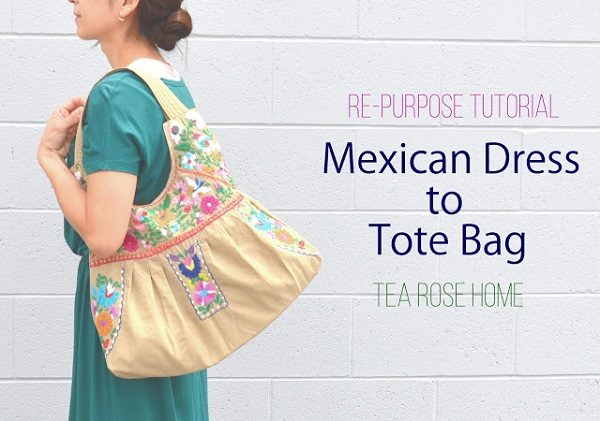 Tutorial: Mexican dress tote bag
