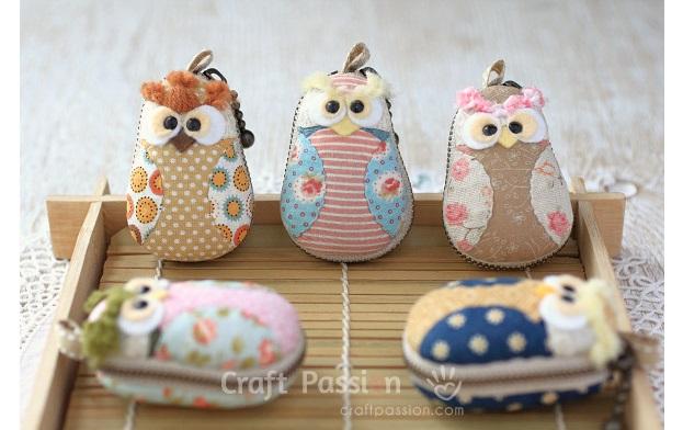 Free pattern: Owl macaron coin purse