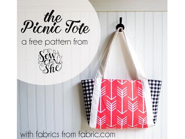 Free pattern: Picnic Tote