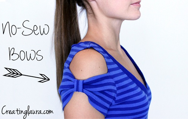 Tutorial: No-sew bow sleeve t-shirts