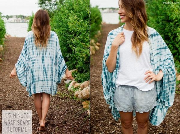 Tutorial: Make this versatile wrap scarf in just 15 minutes