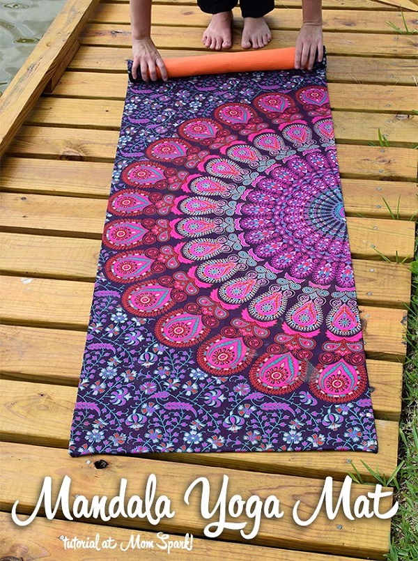 Tutorial: Gorgeous mandala yoga mat
