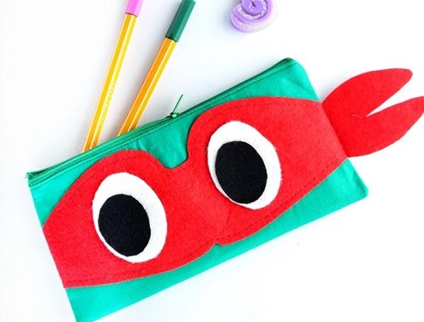 Tutorial: Ninja turtle zipper pencil pouch