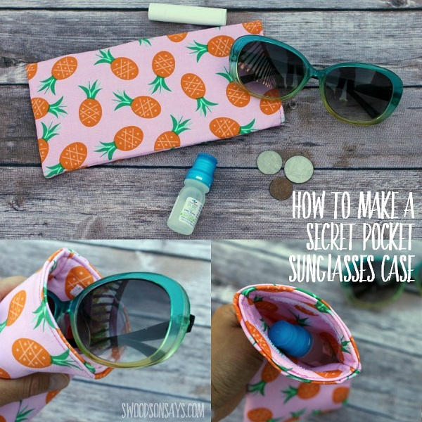 Tutorial: Secret pocket sunglasses case
