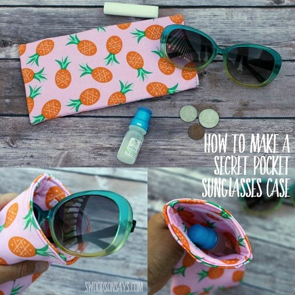 Tutorial: Secret pocket sunglasses case
