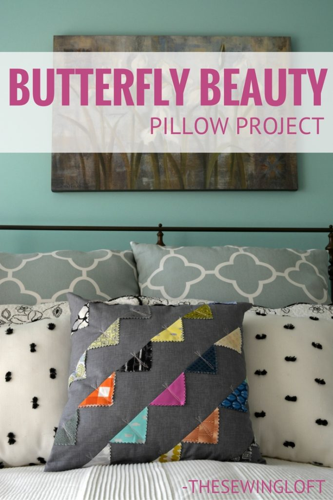 Tutorial: Charm square butterfly throw pillow