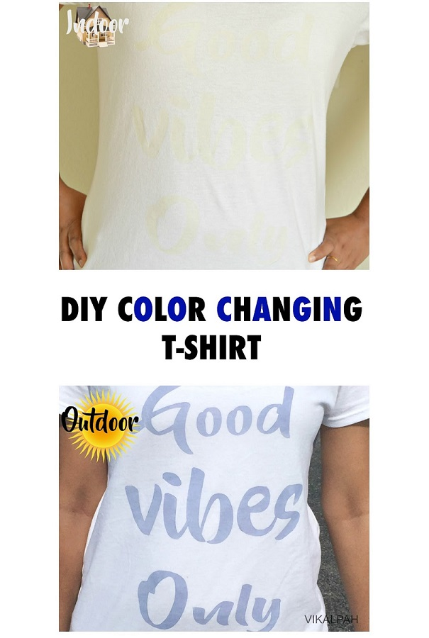 Tutorial: Color changing stencil t-shirt