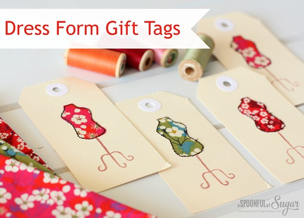 Tutorial: Fabric dress form gift tags