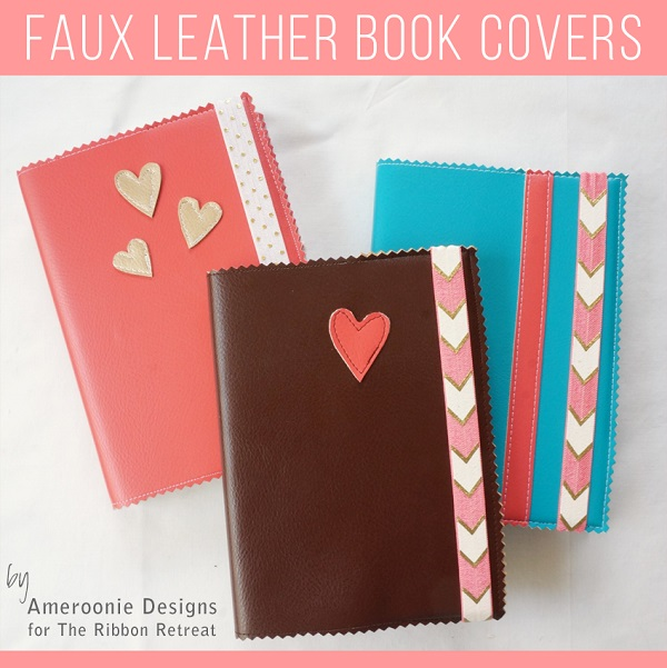 Tutorial: Easy faux leather book covers