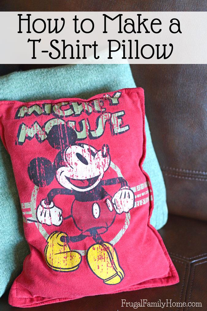 Tutorial: Turn an outgrown t-shirt into a cute new pillow