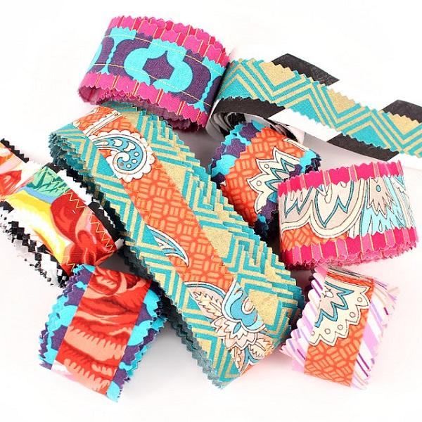 Tutorial: Scrapbusting Boho fabric ribbon