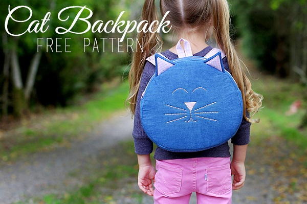 Free pattern: Cat backpack for toddlers and preschoolers