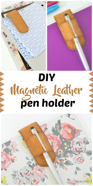 Tutorial: Magnetic leather pen clip