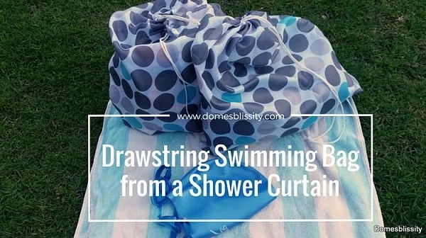 Make wet bags from a shower curtain