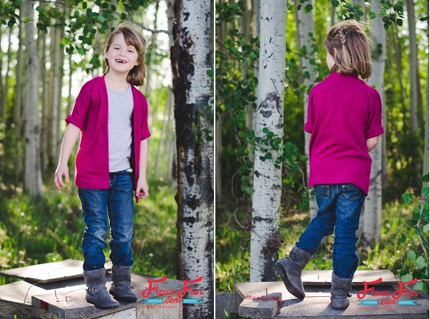 Free pattern: Girls' fall cardigan