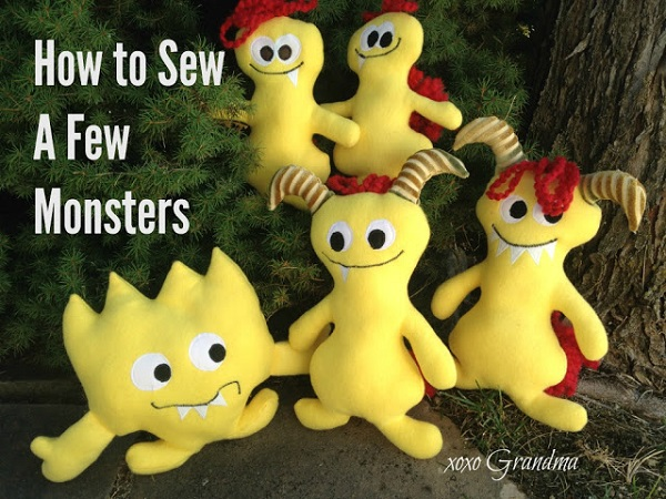 Free pattern: Adorable monster softies