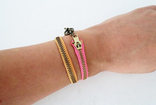 Tutorial: Easy zipper bracelet