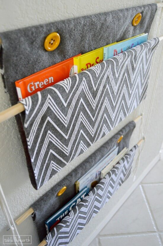 Tutorial: Sling style hanging book holder
