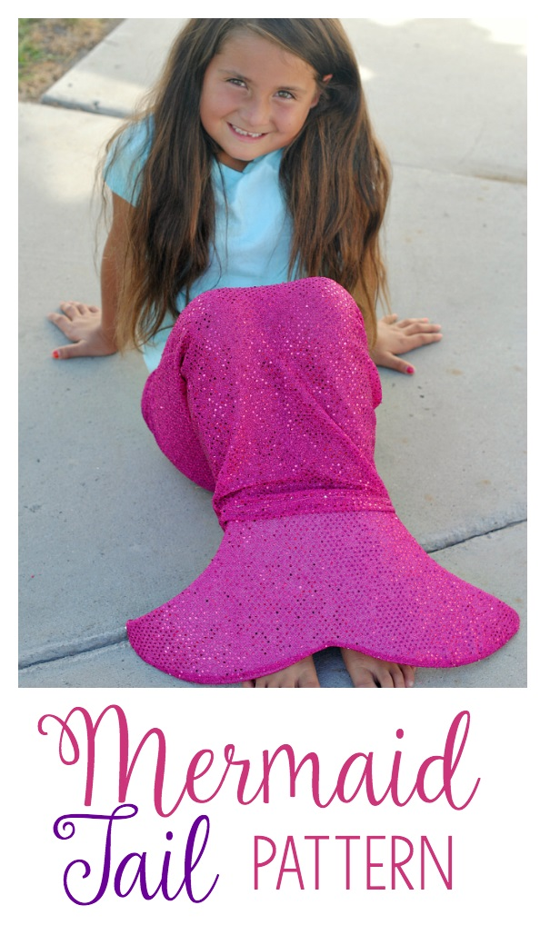 Free pattern: Mermaid tail dress-up skirt