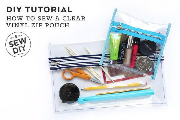 Tutorial: Clear vinyl zip pouch