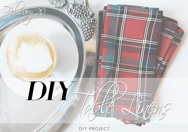 Tutorial: DIY fabric napkins with mitered corners