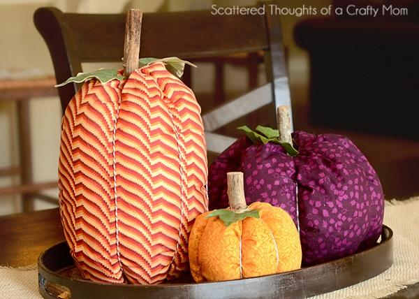 Tutorial: Easy fabric pumpkins for fall