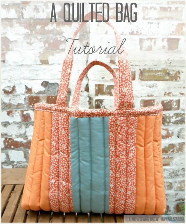 Tutorial Squishy Quilted Tote Bag Sewing