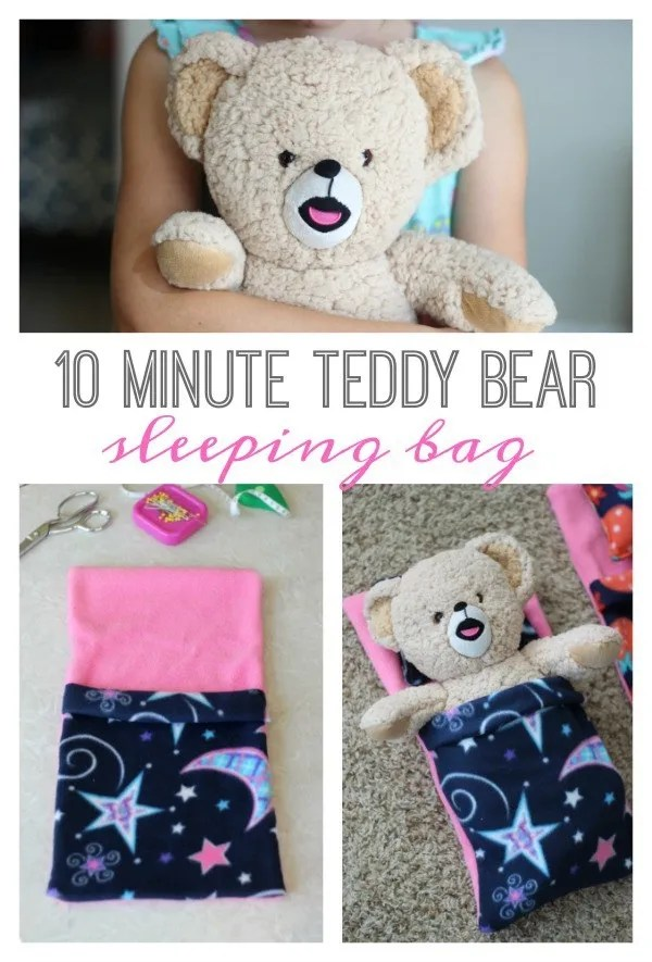 Tutorial Teddy Bear Sleeping Bag Sewing