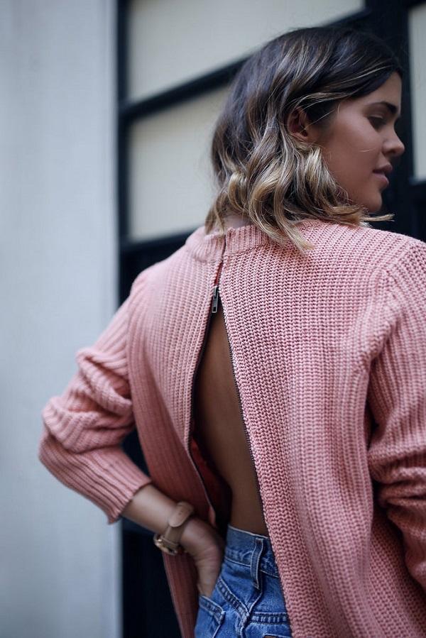 Tutorial: Zip back sweater refashion