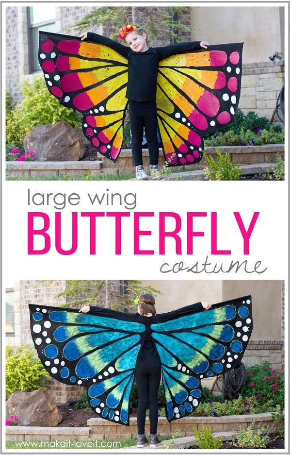Tutorial: Butterfly costume with extra large wings