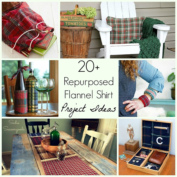 20 ways to repurpose a flannel shirt