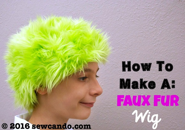 Tutorial: Faux fur wig for a Halloween costume