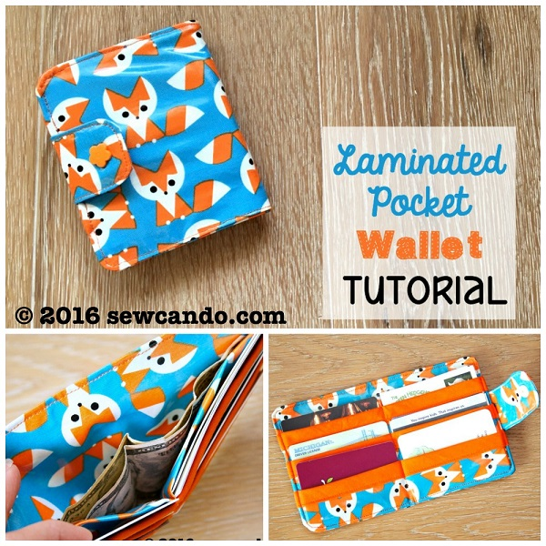 Tutorial: Laminated pocket wallet
