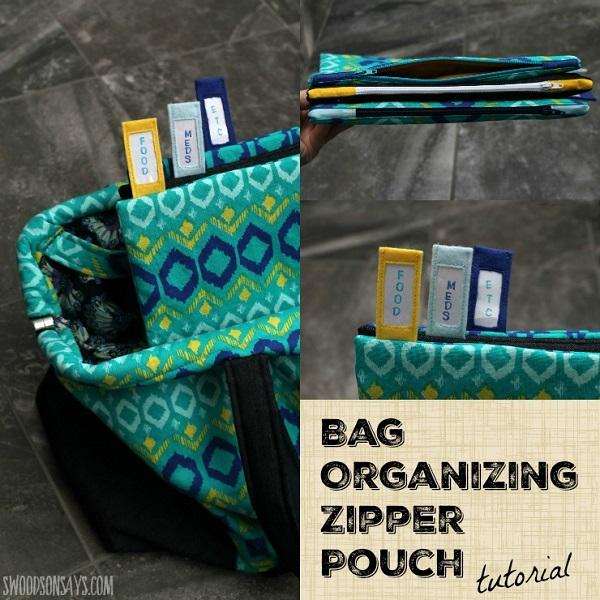 Tutorial: Bag organizer zipper pouches