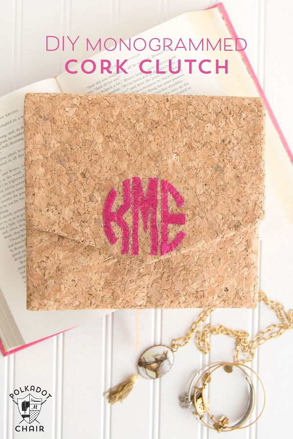 Tutorial: Monogrammed cork clutch purse