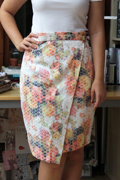 Tutorial: Faux wrap pencil skirt