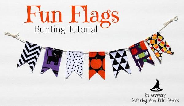 Tutorial: Scrap fabric flag bunting