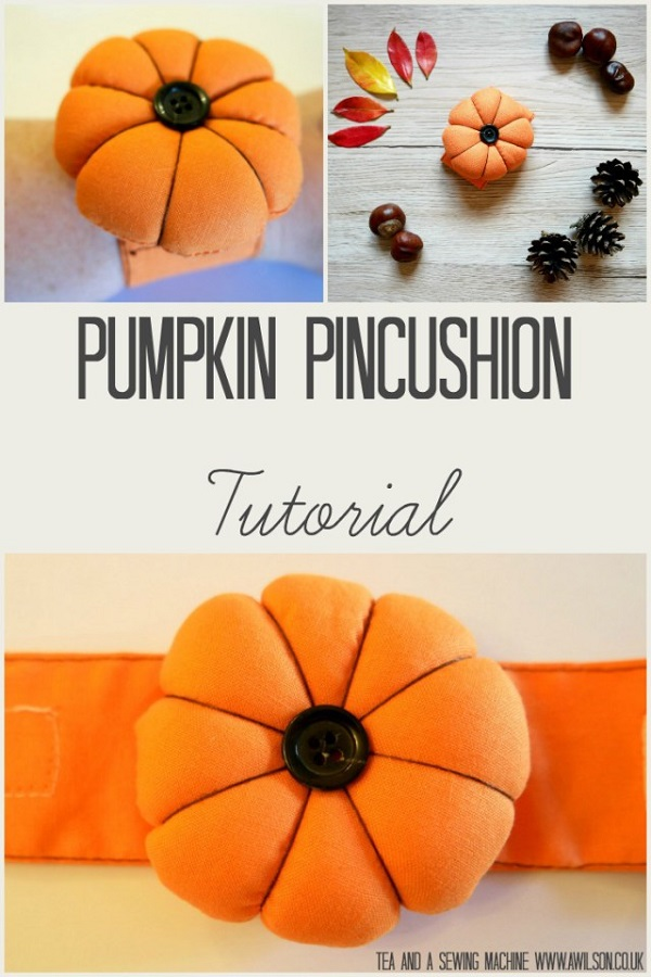 Tutorial: Pumpkin pincushion for your wrist